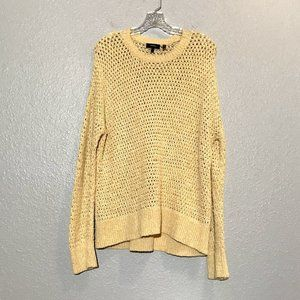 Theory Loose Weave Crew Neck Sweater